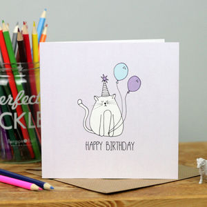 Birthday Cat - birthday cards