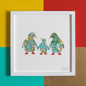'Happy Family' New Baby Gift Artwork