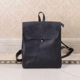 Minimalist Genuine Grain Leather Backpack - gifts