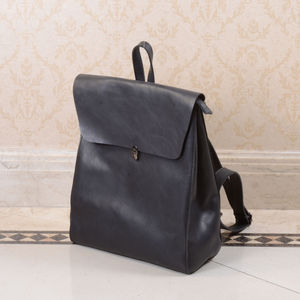 Minimalist Genuine Grain Leather Backpack Personalised - 30th birthday gifts