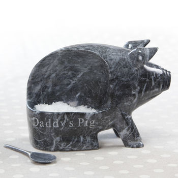 Personalised Marble Salt Piggy