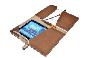 Document Case Leather Portfolio A4 Light - bags & purses