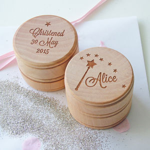 Personalised Little Christening Keepsake Box - children's room accessories