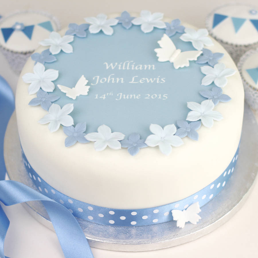 Cake Decorating Kit Images : personalised boys christening cake decorating kit by ...