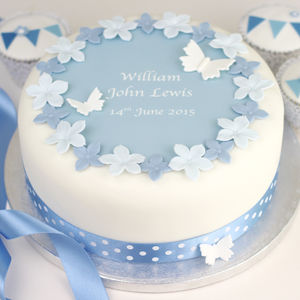 Personalised Boys Christening Cake Decorating Kit - cake decoration