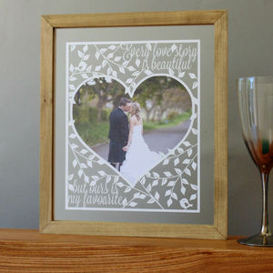 Every Love Story Photo Papercut - prints & art