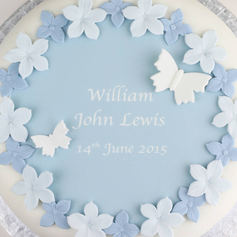Cake Decorating Christening Personalised : personalised boys christening cake decorating kit by ...