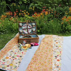 Waterproof Picnic Blanket Peach And Grey - gifts for her