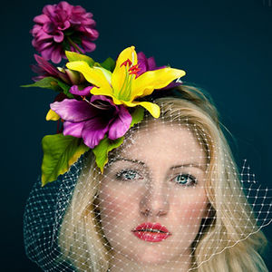 Tropical Flower Fascinator With Extended Bloom - hats & fascinators