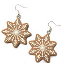 Miniature Iced Gingerbread Biscuit Earrings