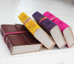 Vibrant Leather Journal - gifts for teenage girls