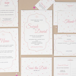 'Louloute' Wedding Stationery Collection - pretty pastels