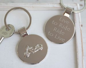 Personalised Motorbike Round Keyring - view all father's day gifts