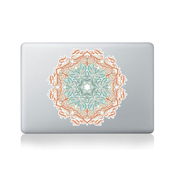 Calligraphy Floral Patterns Mandala Macbook Sticker