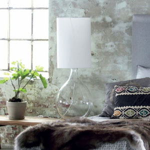 Overlarge Glass Table Lamp - table & floor lamps