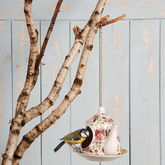 Teapot Bird Feeder - garden