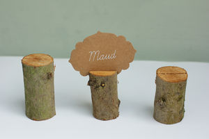 Set Of Five Branch Name Card Holders - placecards