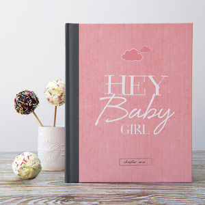 New Baby Record Book For Girls - baby shower gifts