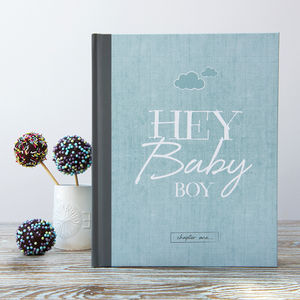 New Baby Record Book For Boys - new baby gifts