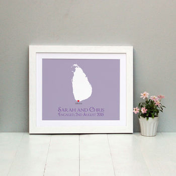 Engaged In Sri Lanka Personalised Print