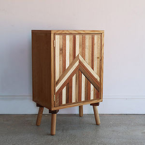 Vintage Abstract Bed Side Table - furniture