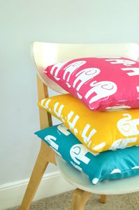 Handmade Retro Elephant Cushion