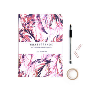 Pastel Paradise Palms A5 Notebook With Lined Pages