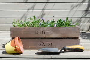 Personalised Wooden Window Box - gardener