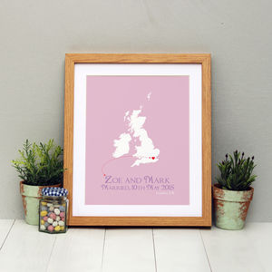 Married In The UK Personalised Print