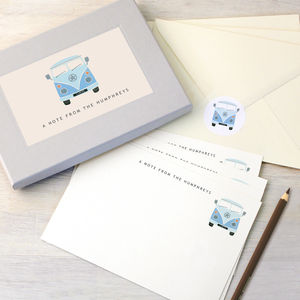 Personalised Campervan Writing Set