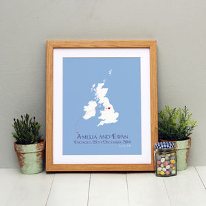 Engaged In The UK Personalised Print - engagement gifts