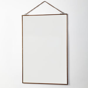 Rectangular Mirror On Chain - mirrors