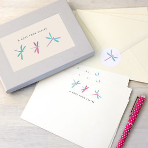 Personalised Dragonflies Writing Set - more