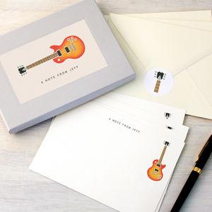 Personalised Guitar Writing Set