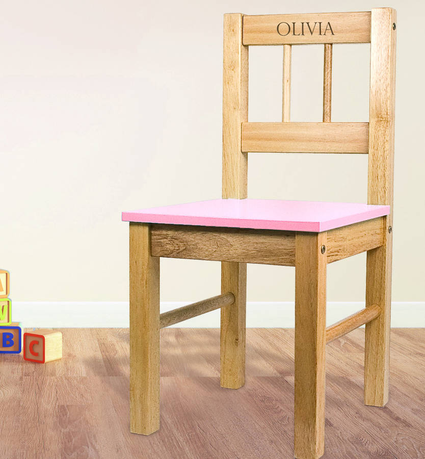 Personalised Child 39 S Wooden Chair By Letteroom