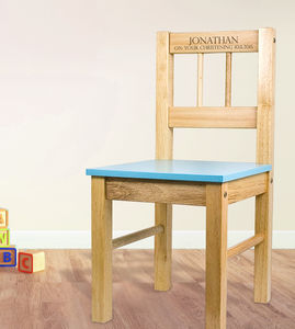 Personalised Child's Wooden Chair - children's room