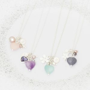 Create Your Own Violet Personalised Bridesmaid Necklace - wedding fashion