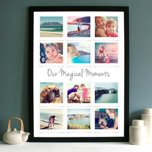 Personalised Polaroid Inspired Photo Collage - wall art