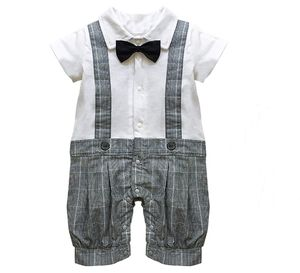 Baby Boy's All In One Outfit With Bow Tie - outfits & sets