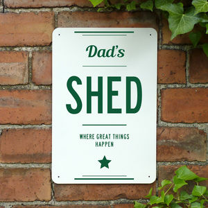 Personalised Dads Shed Metal Sign