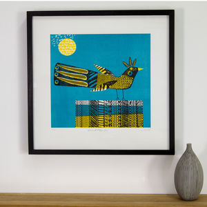 African Bird Blue Skies Limited Edition Print - modern & abstract