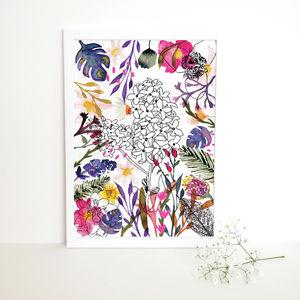 Chelsea Gardens Watercolour Art Print - contemporary art