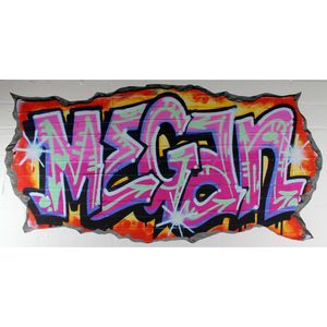 Personalised Pink Graffiti Wall Stickers - wall stickers