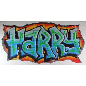 Personalised Blue Graffiti Wall Stickers - wall stickers