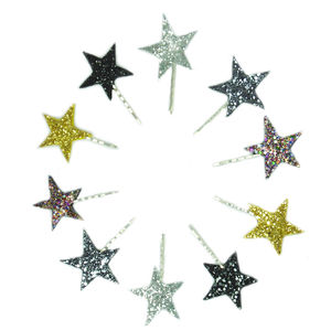 Glitter Star Bobby Pins Available In 30 Colours - christmas clothing & accessories