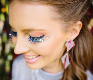 Mermaid Glitter Festival Lashes - stocking fillers under £15