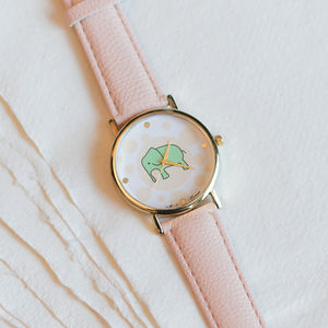 Polka Dot Elephant Watch - women's jewellery