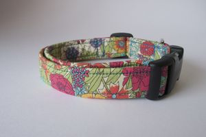 Lilly Liberty Fabric Dog Collar - dogs