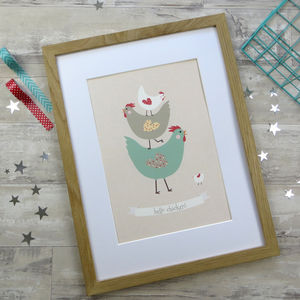 Hello Chicken! Print - posters & prints for children