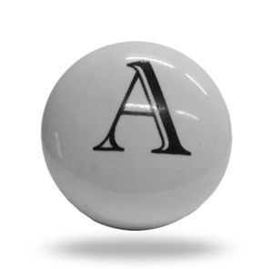 Ceramic Knobs A To Z Letter Door Step - door knobs & handles